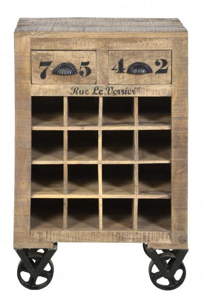 Rustic Wein-Kommode 55x35x85 cm