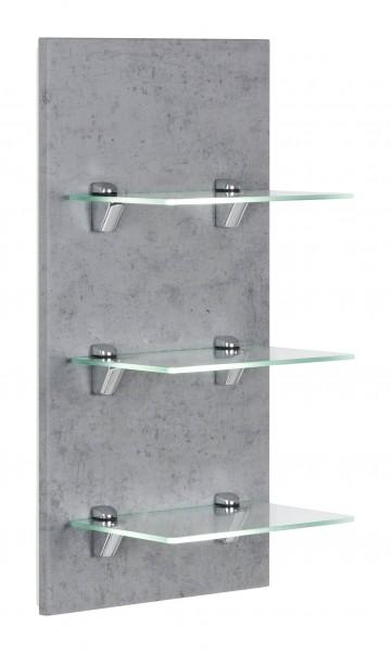 Posseik Panel VIVA mit 3 Glasablagen beton