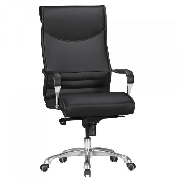 AMSTYLE Bürostuhl BIGBOSS Bezug Kunstleder Schwarz Schreibtischstuhl bis 150 kg