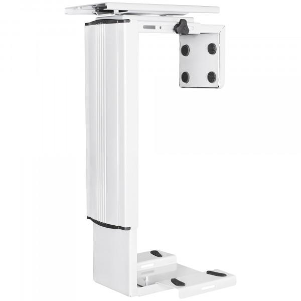 AMSTYLE® PC-Halter SPM4.011 Weiß 360° Drehbar Universal Computerhalterung 38,5 - 52,5 cm