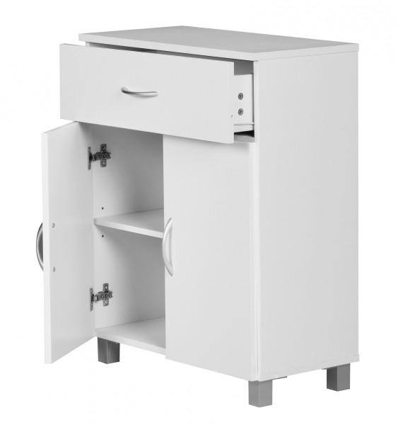 WOHNLING Sideboard Weiß 60x75x30cm