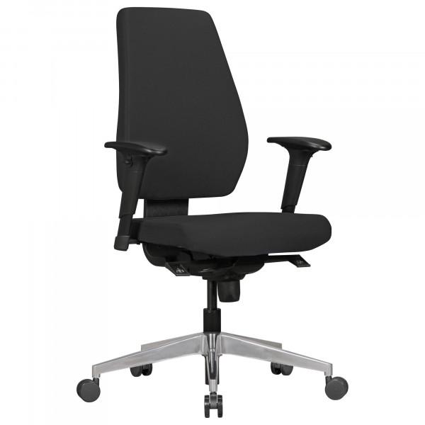 AMSTYLE Bürostuhl DARIUS mit Stoff-Bezug in Schwarz | Design Schreibtisch-Stuhl
