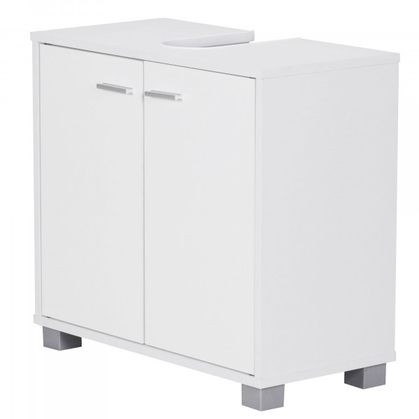 Günstiger WOHNLING Design Waschbeckenunterschrank Weiß