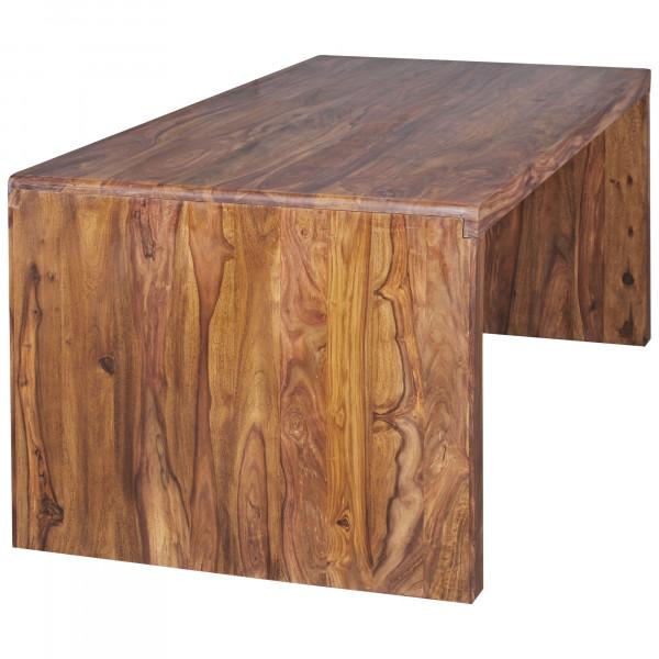 WOHNLING Schreibtisch BOHA Massiv-Holz Sheesham Computertisch 140 cm breit