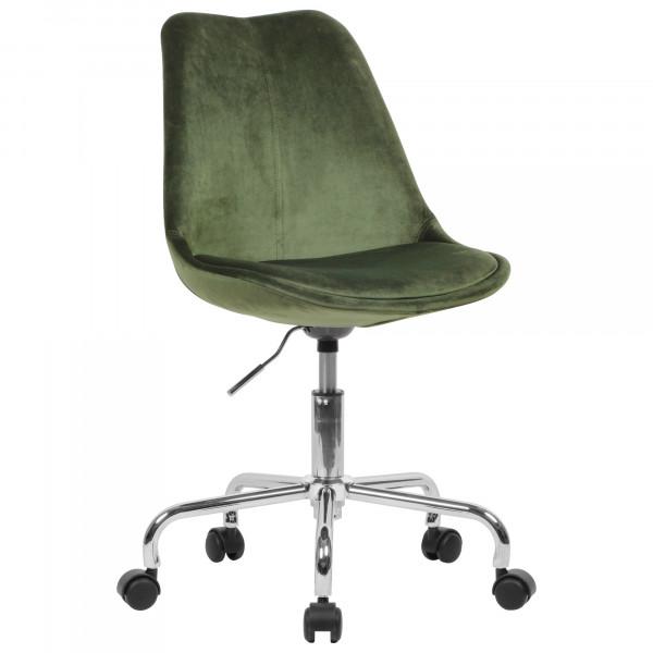AMSTYLE Schreibtischstuhl Grün Samt mit Lehne