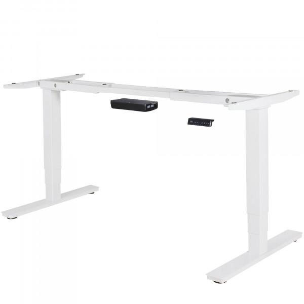 AMSTYLE® elektrisch höhenverstellbares Tischgestell weiß Gestell mit Memory Funktion