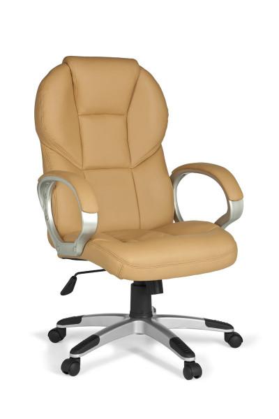 AMSTYLE Bürostuhl MATERA Bezug Kunstleder Caramel Schreibtischstuhl Design Chefsessel Drehstuhl