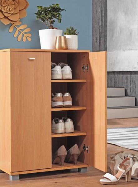 WOHNLING Design Schuhschrank TAJA modern Buche