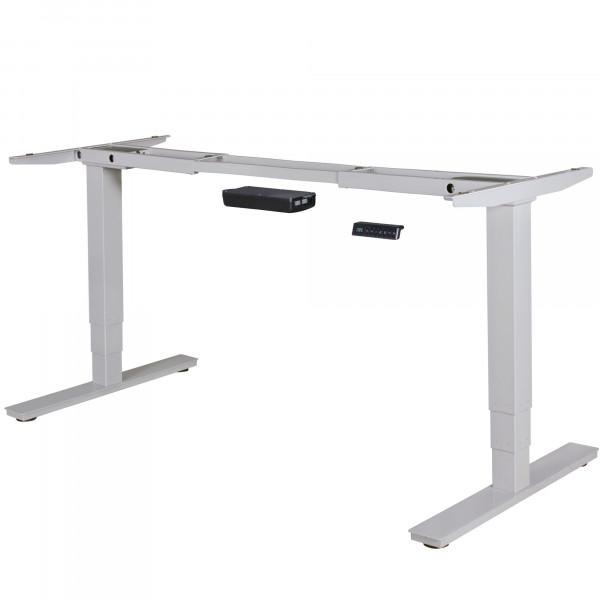 AMSTYLE® elektrisch höhenverstellbares Tischgestell silber Gestell mit Memory Funktion