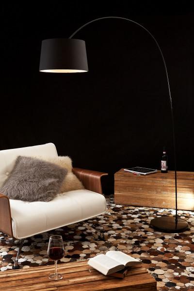 Bogenlampe 205 cm schwarz