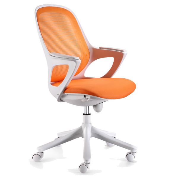 Amstyle Bürostuhl MAGLO Orange Stoff Schreibtischstuhl Drehstuhl Bürosessel mit Armlehnen