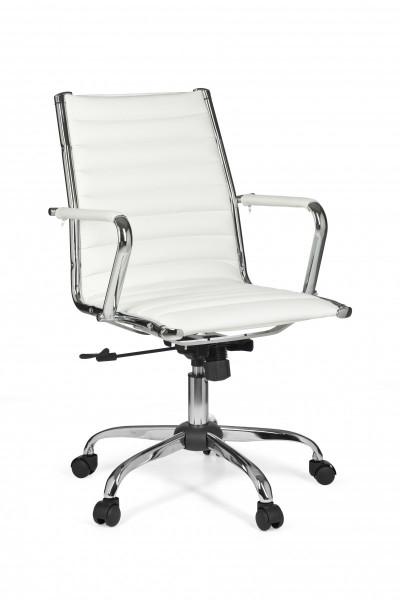 AMSTYLE Bürostuhl GENF 2 Bezug Kunst-Leder Schreibtischstuhl Weiß X-XL 110 kg Chefsessel
