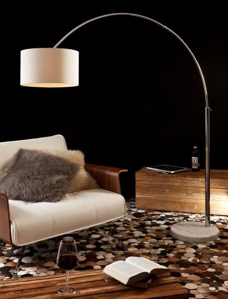 Bogenlampe 210 cm weiß