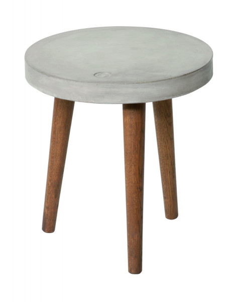 Tom Tailor Beistelltisch 40 x 40 cm Platte grau, Beine nussbaumfarbig