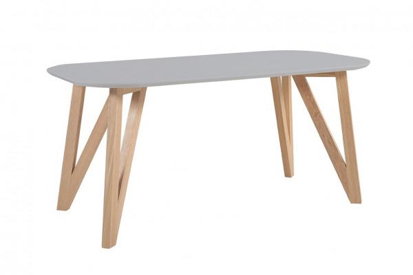 Skandi Design Esstisch 200x90 cm grau Eiche