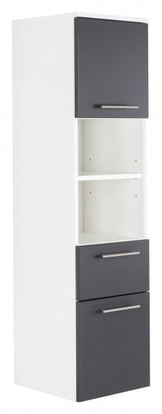 Posseik Hochschrank VIVA 135cm mit Tür anthrazit
