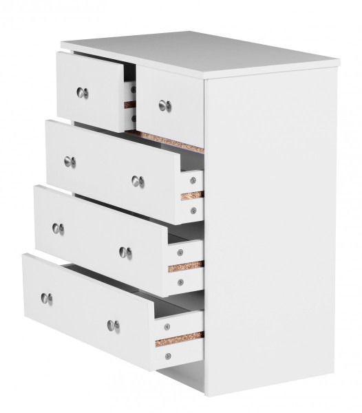 WOHNLING Design Holz-Kommode PRUE 60 x 70 x 35 cm