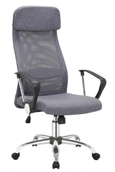 Bürostuhl grau mit Mesh und Stoffbezug