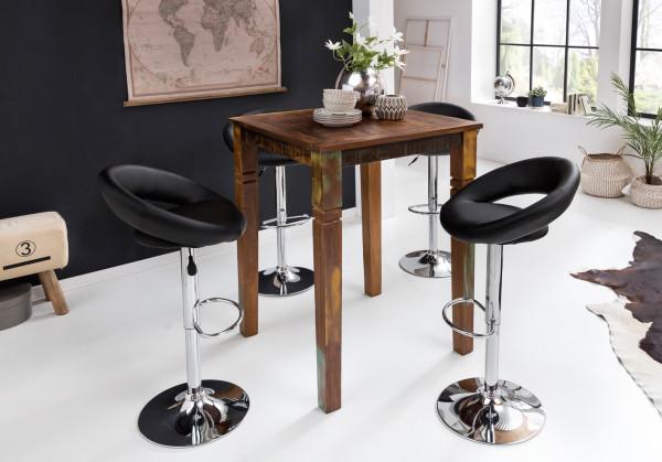 WOHNLING Stehtisch RIVERBOAT   Massivholz Bartisch für 4 Personen   Rustikaler Tisch