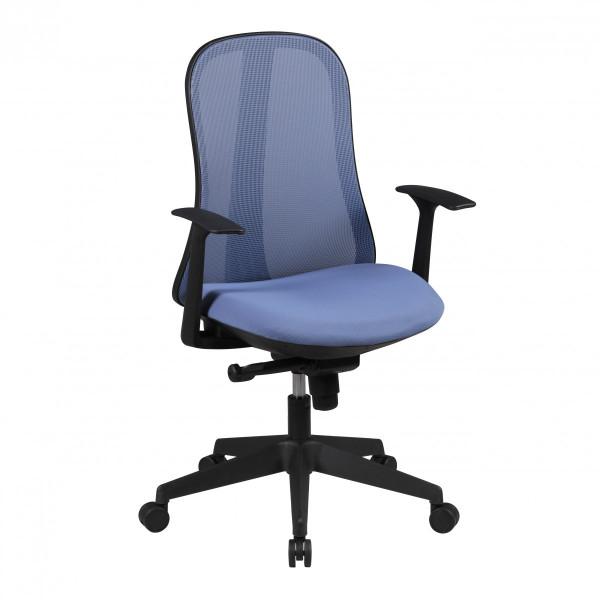 AMSTYLE Bürostuhl STYLE Stoffbezug Blau Schreibtischstuhl Design Chefsessel Drehstuhl