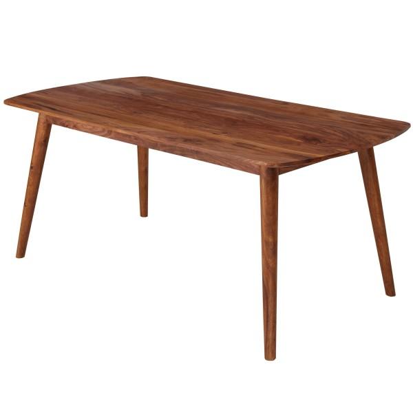 WOHNLING Esstisch Sheesham 180x76x90 cm Massivholz Tisch | Designer Küchentisch Holz