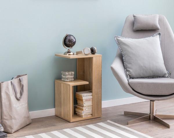 WOHNLING Beistelltisch Abby 35x29,5x60 cm Sonoma Design Anstelltisch Sofa   Couchtisch klein