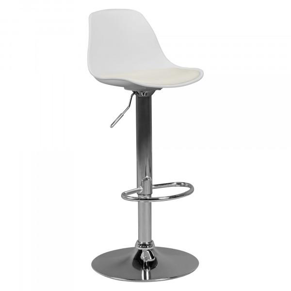 AMSTYLE KORSIKA | Barhocker Kunstleder Weiß | Hocker Sitzhocker Tresenhocker | Design Barstuhl