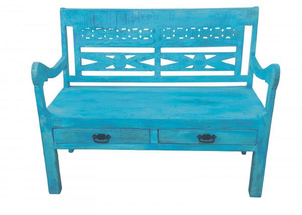 Blue Bank 120x60x95 cm
