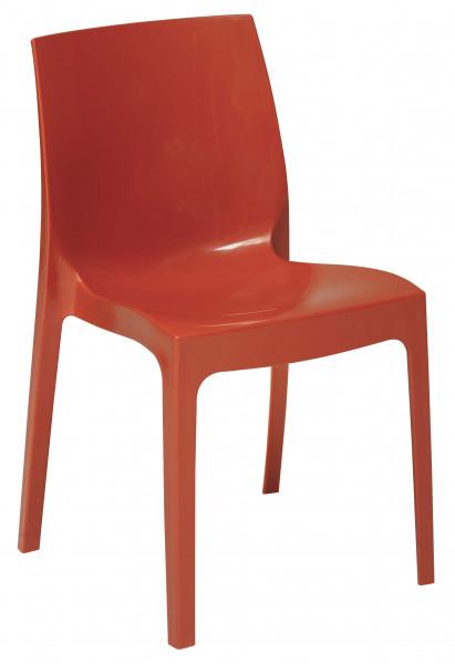 SalesFever Designer Stuhl rot aus Kunststoff