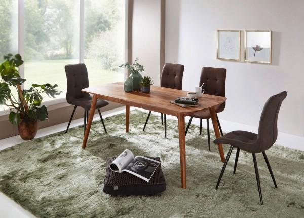 WOHNLING Esstisch Holz 120x77x60 cm Sheesham Massivholz Tisch | Designer Küchentisch