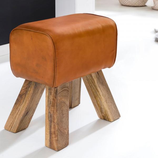 WOHNLING Design Turnbock Sitzhocker Braun