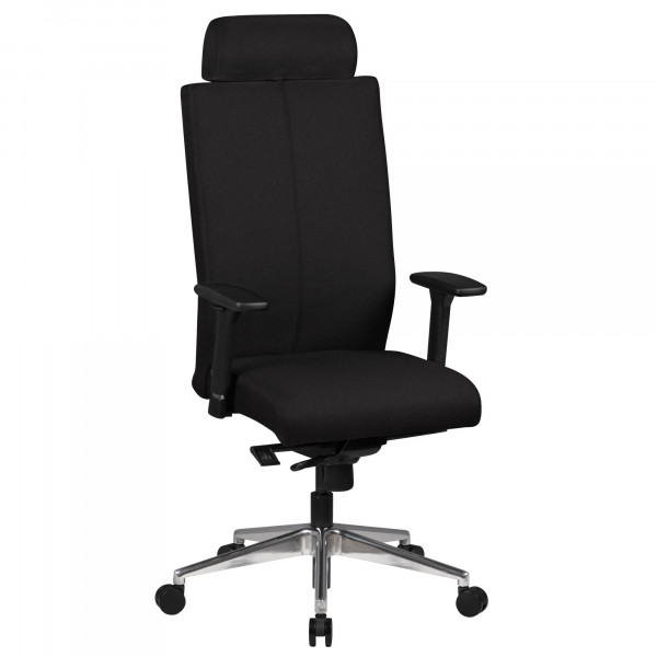 AMSTYLE Bürostuhl ADRIAN Bezug Stoff Schwarz Schreibtischstuhl Design 120kg Chefsessel