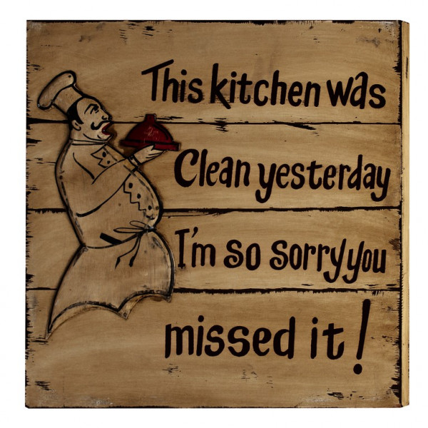 Wandbild Wall-Art Kitchen 50x50x4 cm